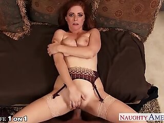Redhead housewife Penny Pax take cock in POV